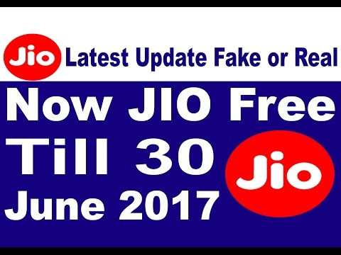 ! JIO BIG GOOD NEWS ! Reliance Jio Free  Till 30 June 2017 |  Jio Latest Update | Its Fake or Real