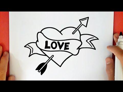como-dibujar-un-corazon-con-flecha