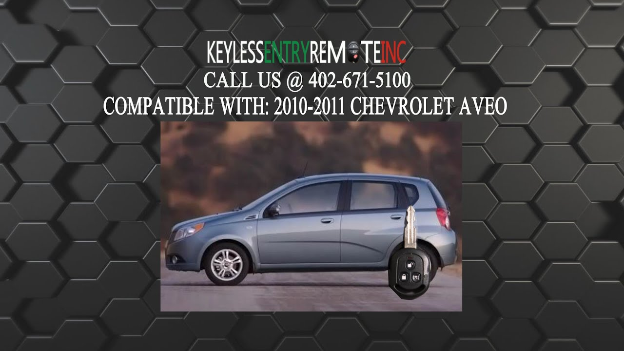 How To Replace A Chevrolet Aveo Key Fob Battery 2004 2009 Fcc Id