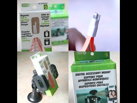 Magnetic USB to Lightning Charger and Digital Accessory Mount - From Dollarama, Quebec, Canada