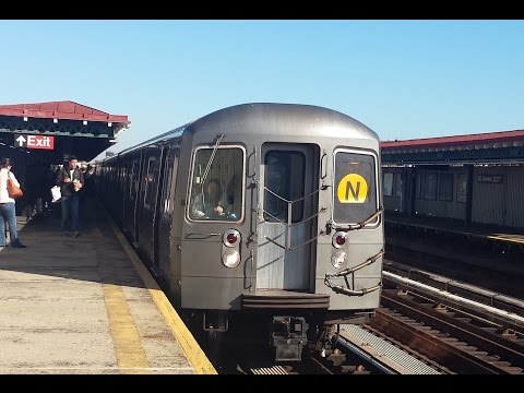 BMT Astoria Line: Manhattan & Ditmars Boulevard Bound R68A & R160 (N) (W) Trains @ 36th Avenue