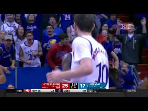Texas Tech vs Kansas Men's Basketball Highlights