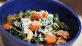 Liesl's White Bean, Kale & Sausage Soup Recipe || Kin Eats
