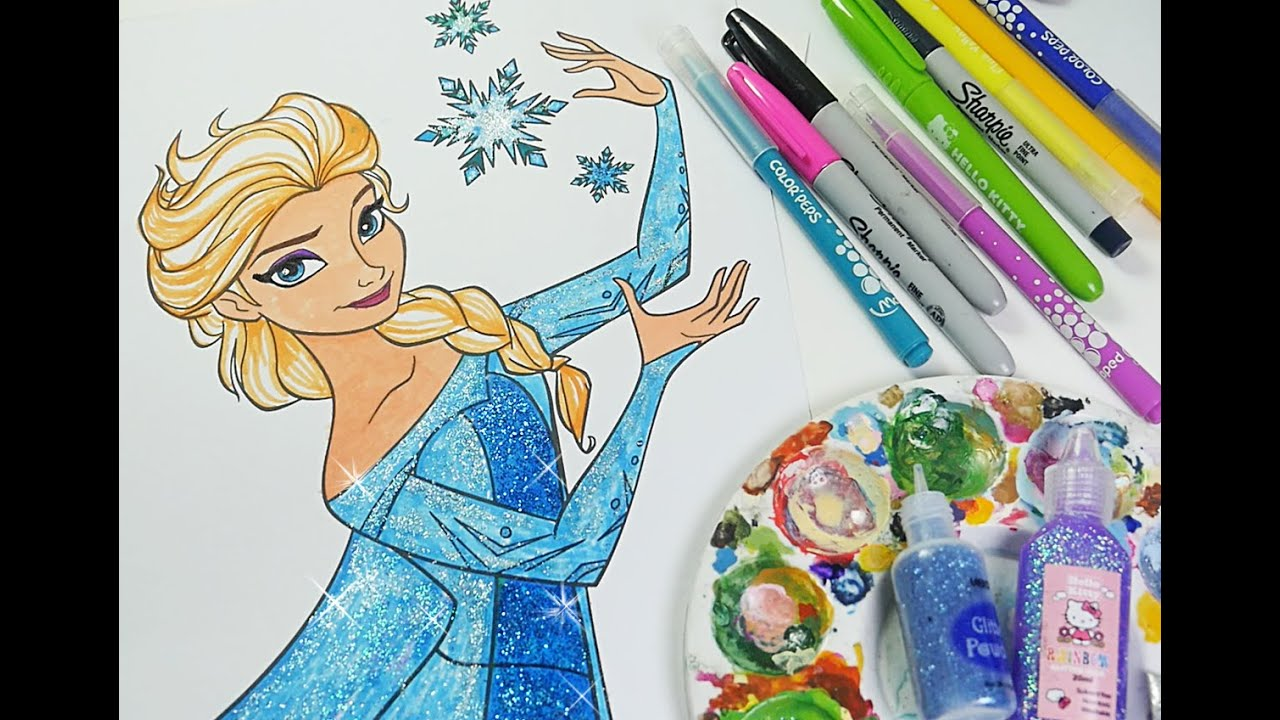 Disney Frozen coloring book Queen elsa coloring pages for kids ...