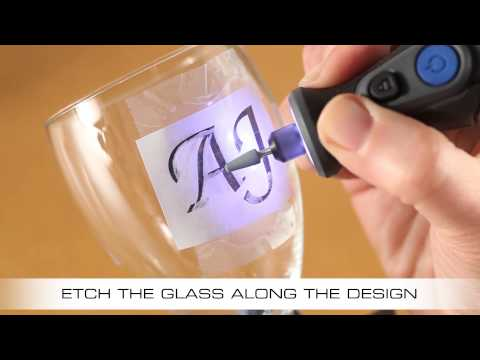 How To Etch A Wine Glass With The Dremel Micro