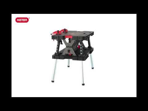 Folding Work Table Keter 17182239 Doovi