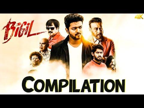 Bigil   Happy Pongal 2020   Compilation   Vijay   Nayathara   4k (English Subtitles)