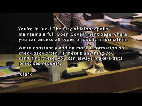 Minneapolis Open Government Portal Promo