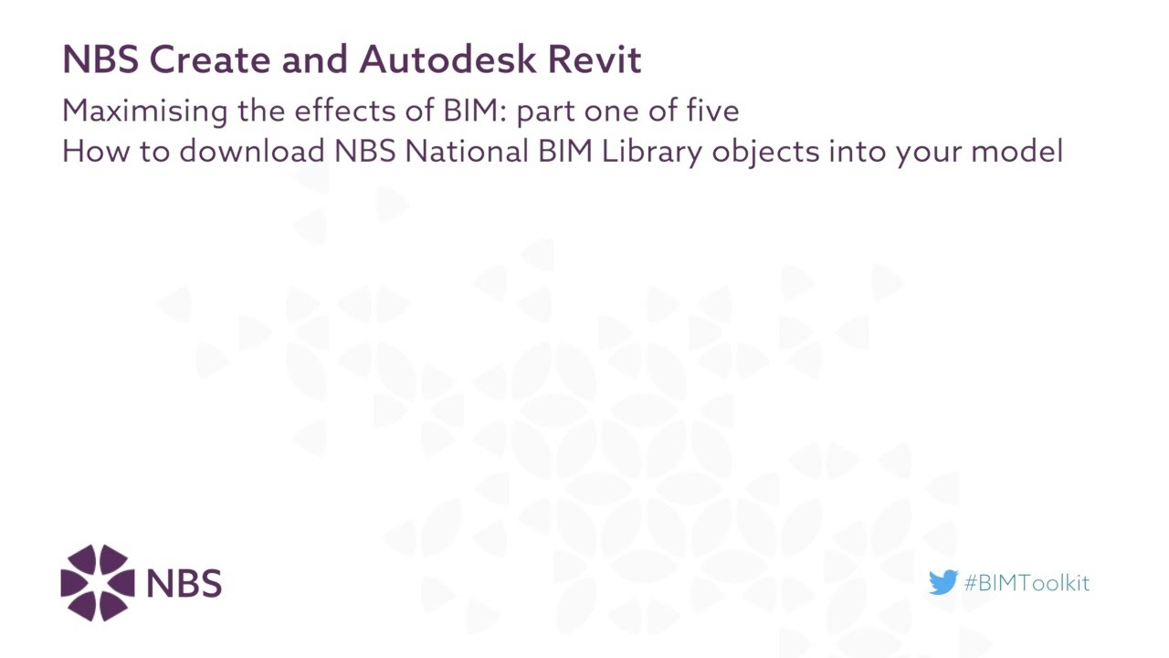How to download NBS National BIM Library objects into your model