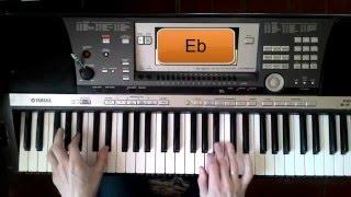 Видеоурок на синтезаторе В.Сюткин и гр.БРАВО Дорога в облака