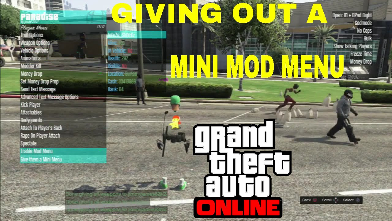 gta v online give money to player