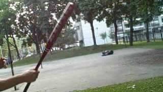Urban Karate Weapons - Baseball Bat and U-Locks