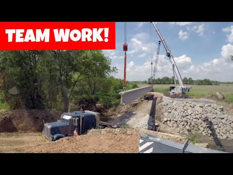 Tadano And Liebherr Working Together To Build A Bridge | Construction (industry)