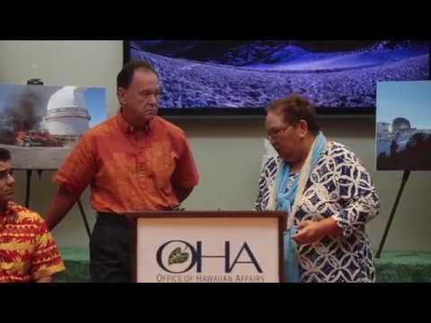 OHA Press Conference - OHA Sues the State for Mismanagement of Mauna Kea