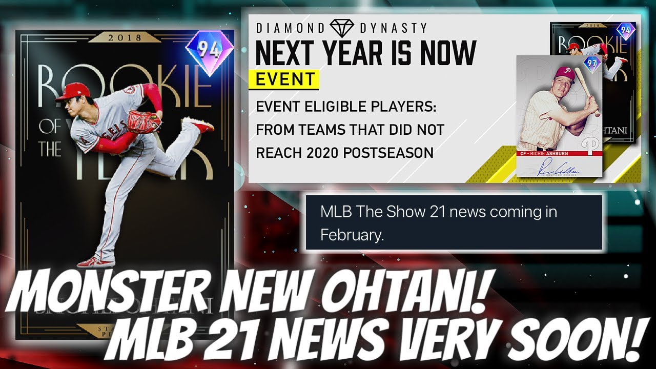NEW Diamond Shohei Ohtani! MLB 21 News Coming SOON... What Content Is Left For MLB 20?