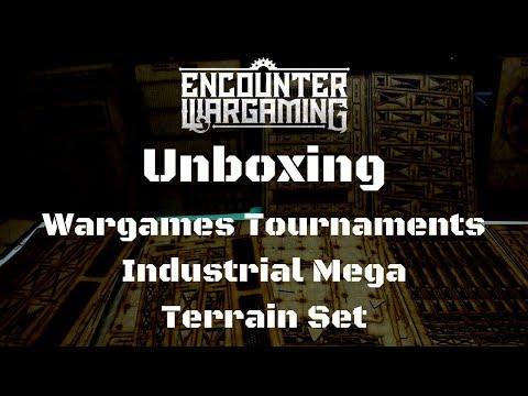 Unboxing Wargames Tournaments Industrial Mega Terrain Set