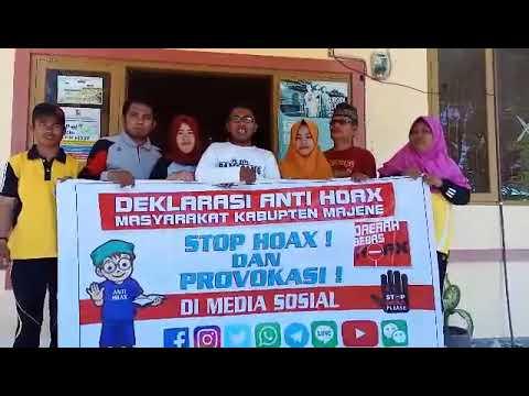Polres Majene~Deklarasi anti Hoax Pemerintah Desa Bonde Utara