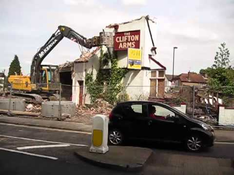Clifton Arms Demolition 17th May 2012
