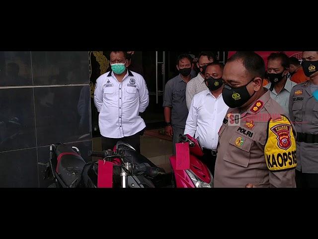 POLRES SUMEDANG BEKUK DUA PELAKU PENADAH MOTOR