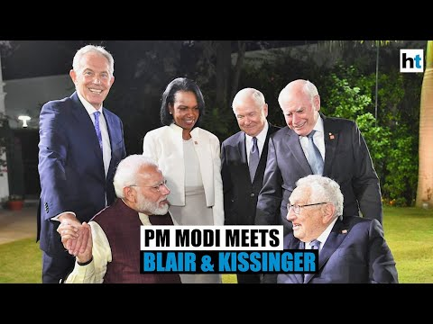 PM Modi discusses $5 trillion economy plan with Tony Blair, Henry Kissinger