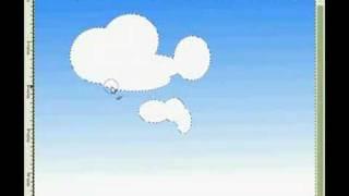 GIMP: Drawing Cartoon Clouds