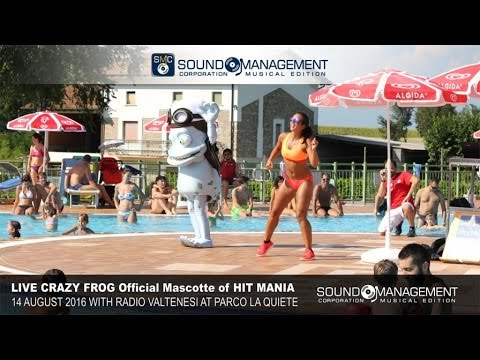 CRAZY FROG Official Mascotte Hit Mania at Parco La Quiete - 14 August 2016 with Radio Valtenesi