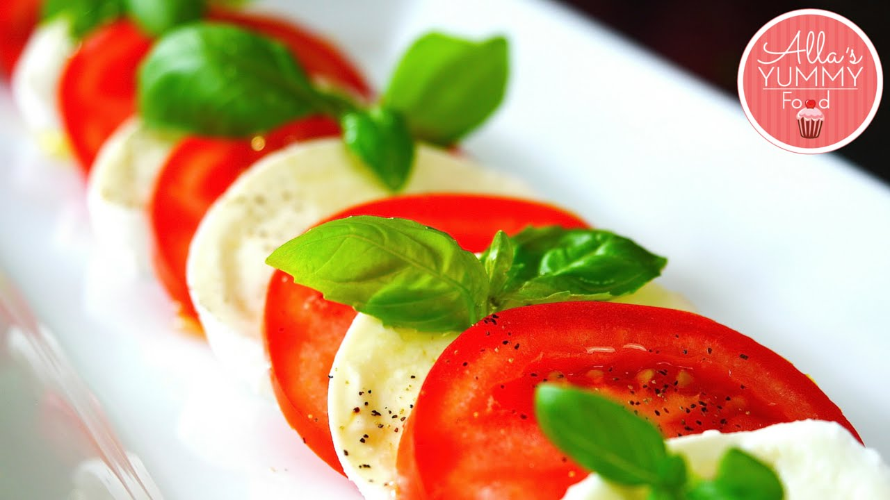 Tomato Mozzarella Basil Salad Healthy Quick Salad Recipe Salat Kapreze
