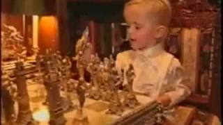 Prince Michael Jackson playing chess with his daddy