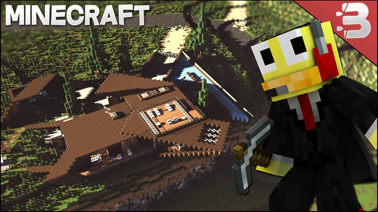Minecraft: Modern Diagonal Cliff House Concept Home ...