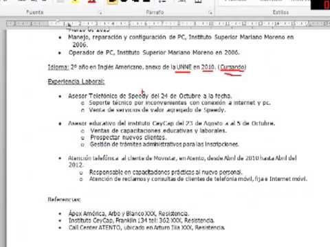 Como Hacer Un Cv Basico En Argentina Youtube