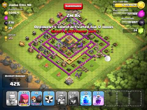 Clash of clans  Th8 is no match for Th9 players