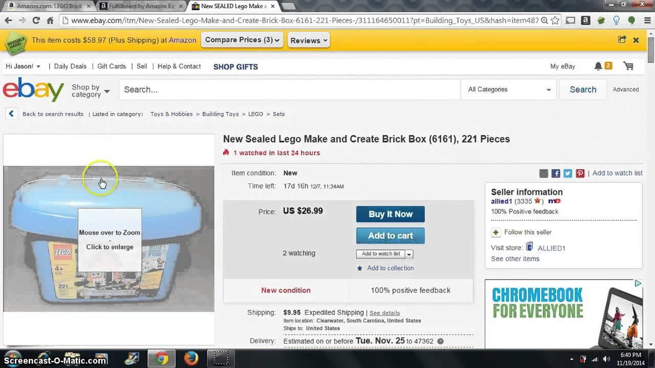 Easy Ebay To Amazon Lego Flips - YouTube