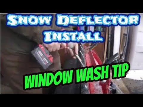 Snow Deflector Install On Western Plow - Window Wash Tips