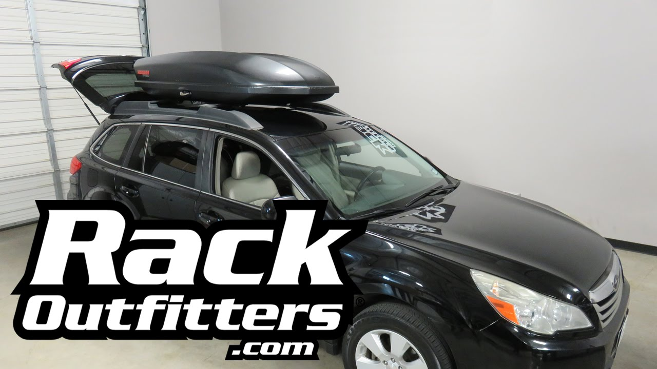 Subaru Outback Wagon With Yakima SkyBox Carbonite Roof Top - 2018 acura rdx roof rails