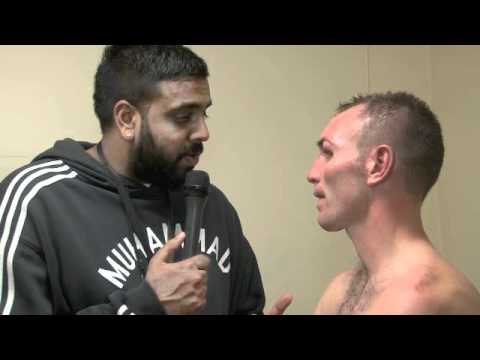 POST-FIGHT INTERVIEW WITH COLIN LYNES FOR iFILM LONDON / PURDY v LYNES