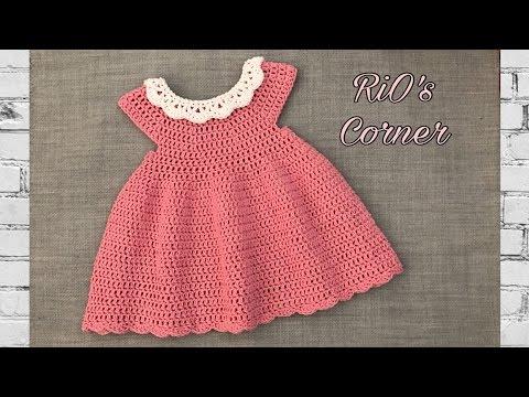 [Crochet] Toddler Summer Dress | Hướng Dẫn Móc Váy Cho Bé (kiểu 2)