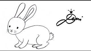 Hase 🐇 Häschen 🐰 Kaninchen malen ✏️ zeichnen lernen, how to draw a rabbit bunny for children