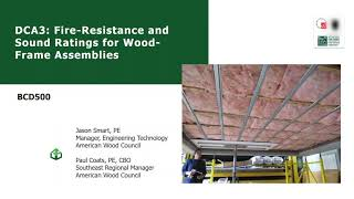 BCD500 – DCA3: Fire-Resistance and Sound Ratings for Wood-Frame Assemblies
