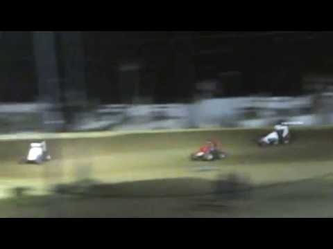 Quincy Raceways POWRi Midget flip 6/09/2016