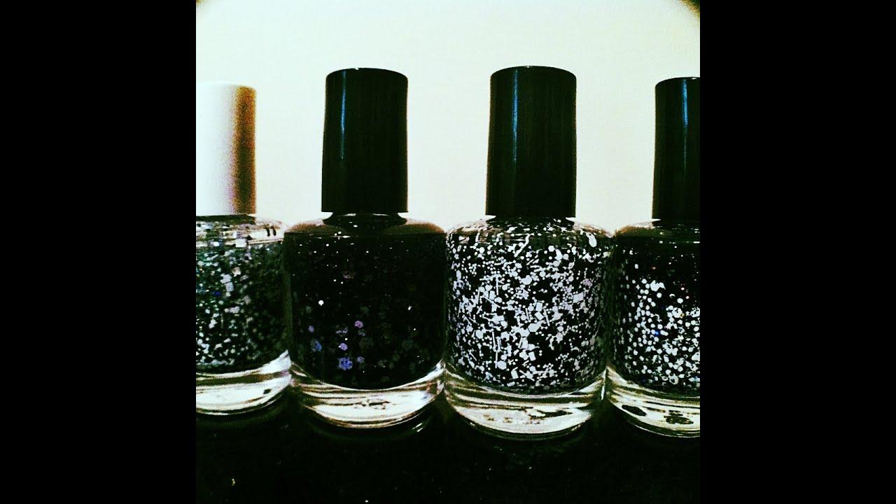 Nail Colors Youtube: Beauty Chit Chat: Black And White Glitter Nail Polish