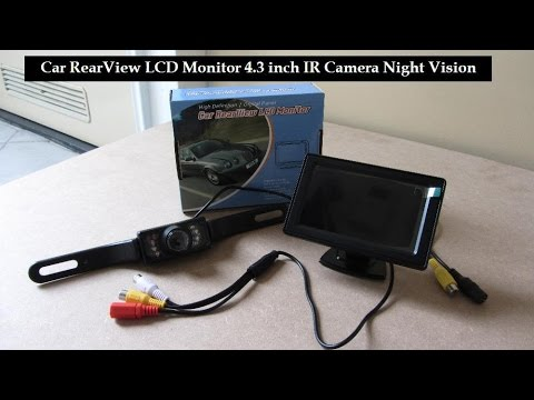 car rear view camera lcd monitor 43 inch - youtube - gallery of tft backup  camera  toyota hilux reverse camera wiring diagram
