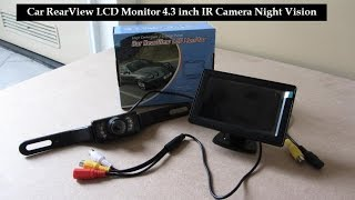 Car Rear View Camera LCD Monitor 4.3 inch