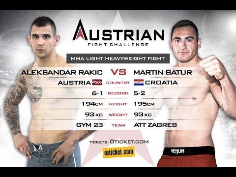 Austrian FC 1: Aleksandar Rakic vs Martin Batur