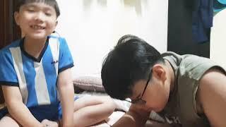 아빠손에 매니큐어 칠해주기(Manicure on Dad…