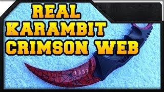 CS:GO - Karambit Crimson Web in REAL LIFE