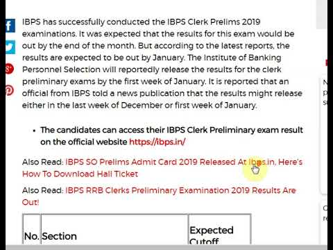 IBPS Clerk Result 2019: Here Are The Expected Cutoffs In The Exam Results