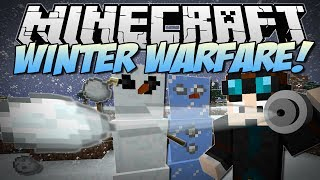 Minecraft | WINTER WARFARE! (Snowball Bazookas, Abominable Snowman & More) | Mod Showcase