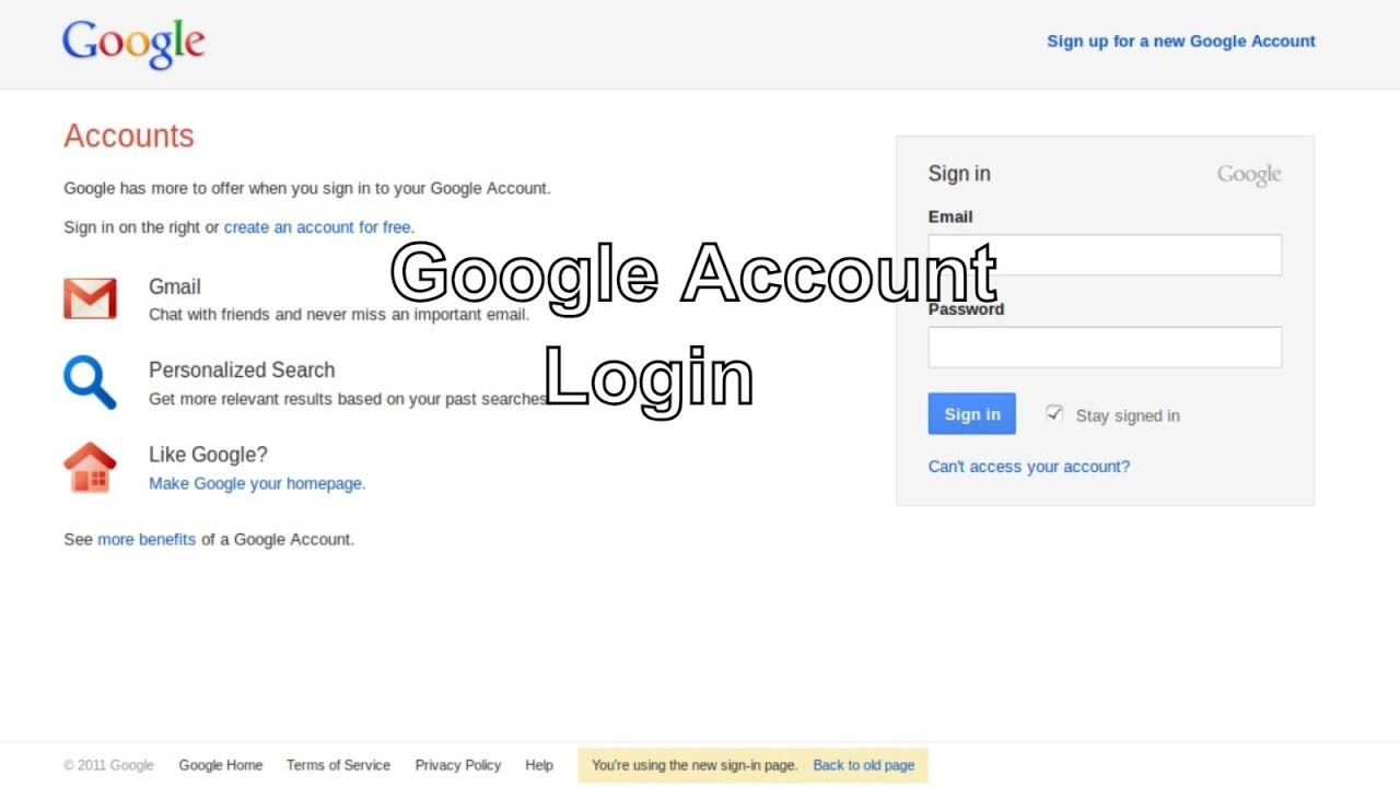 google login - gmail login - google account sign in   Sign in to Google  Account