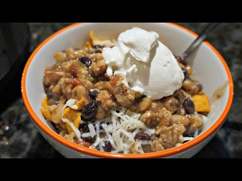 Black And White Bean Chicken Chili - Made In The Crock Pot