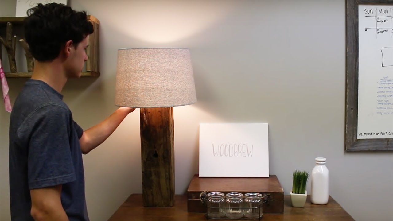DIY Rustic Lamp // Woodbrew